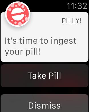 Pilly! Apple Watch App Notification